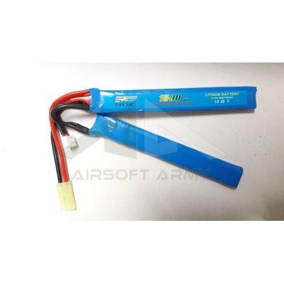Batteria Li-Po 7.4V x 1500mAh 25C Due Elementi