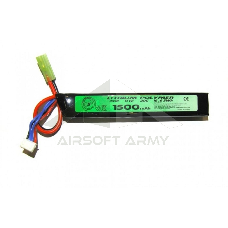Batteria Lipo 11.1v 1500mah 20c Tubo